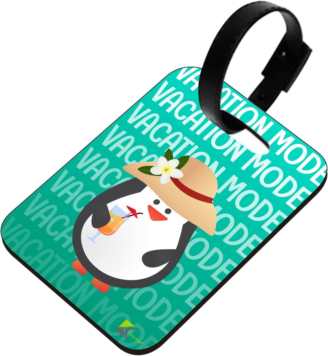 "5/"" Tall Penguin Luggage Tag"