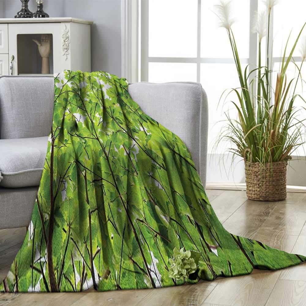 Amazon.com: Leaves Custom Design Cozy Flannel Blanket Close ...