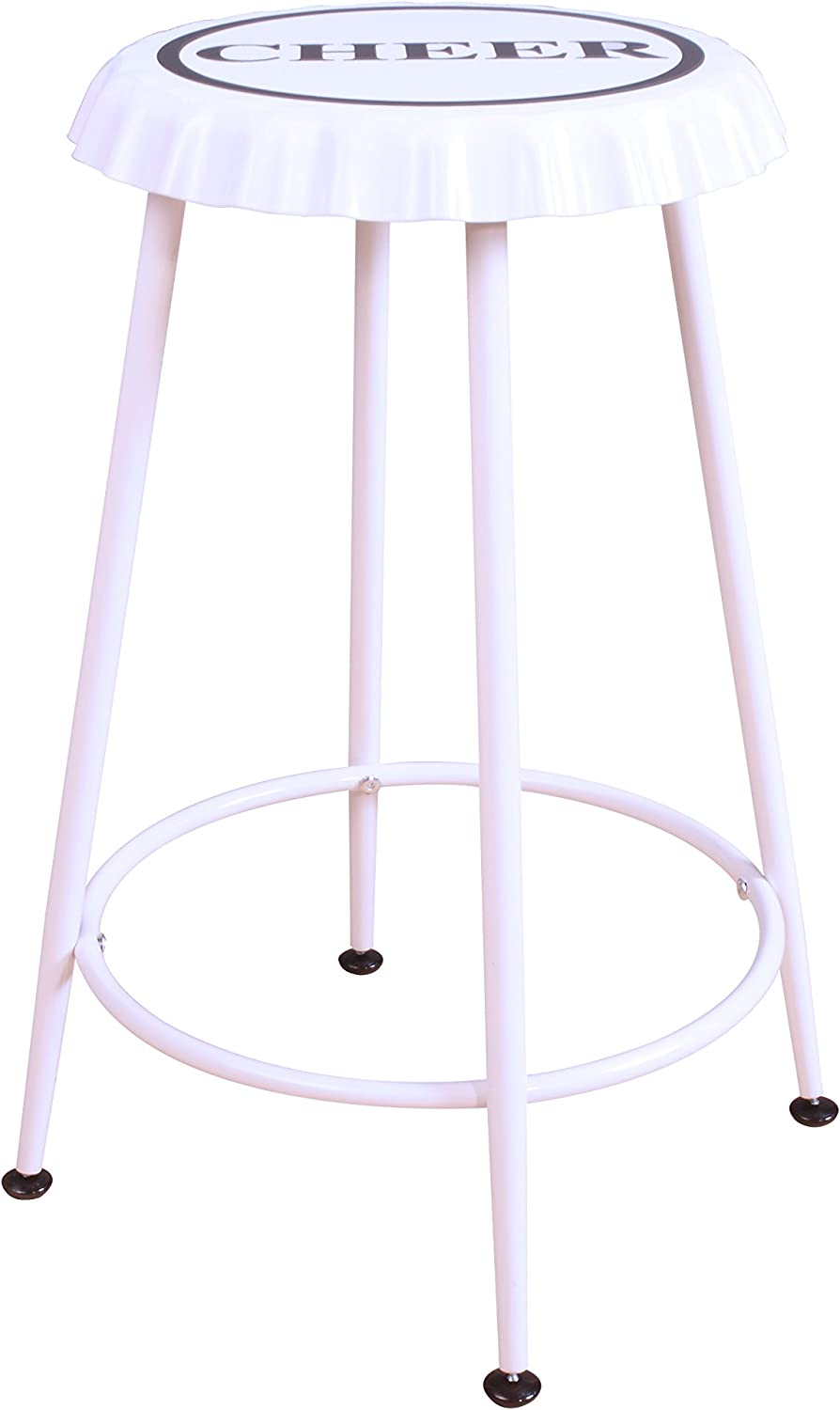 ACME Furniture Acme 72702 Mant Stool, White -Set of 2, One Size