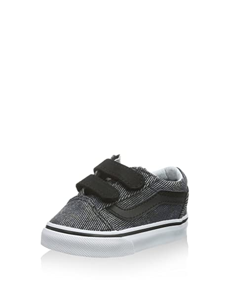Vans Old Skool V, Mocasines para Bebés, Negro (Acid Denim/Navy/Black), 19 EU: Amazon.es: Zapatos y complementos