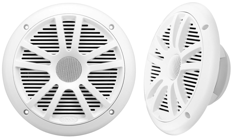 BOSS Audio MR6W 180-Watt Dual Cone Marine 6.5-Inch Coaxial Speaker