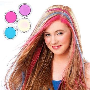 Amazon Com Women Hair Color Powder Temporary Dye Wash Out Hair Chalk Powder Beauty