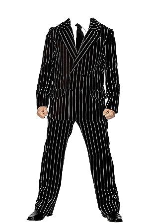 Gomez Addams Mens Fancy Dress Halloween Movie Adams Family Adults Costume Suit