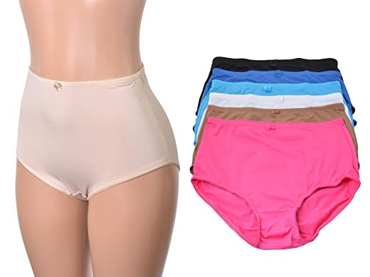 Women's 6 Pack High Waist Cool Feel Brief Underwear Panties S-5xl ...