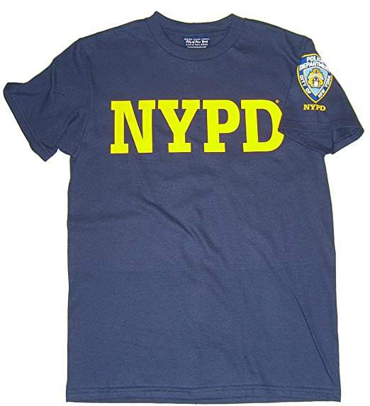 9ab668cf7 NYPD Yellow Print Patch on Sleeve T-Shirt - Size: Adult Small - Color