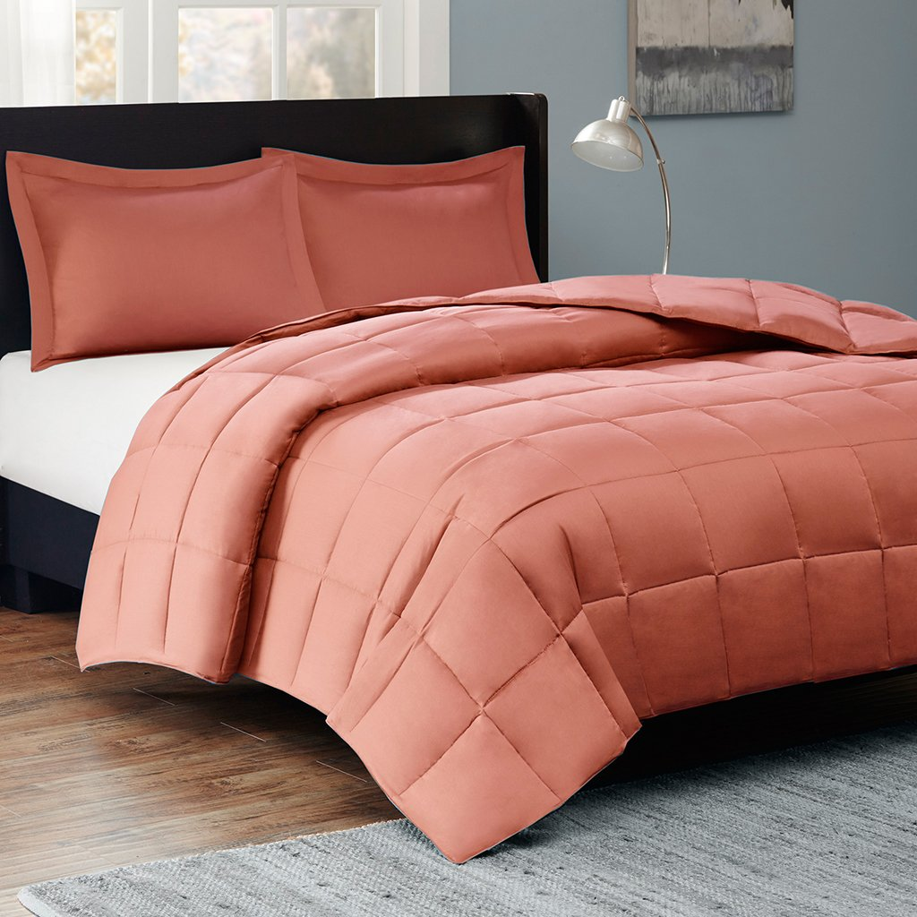 Sleep Philosophy Kassidy Thinsulate Comforter Mini Set, Full/Queen, Orange