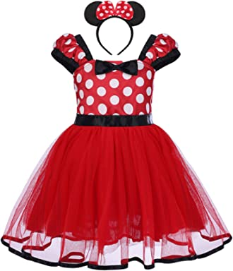 Infant Baby Toddlers Girls Polka Dots Birthday Princess Bowknot Tutu Dress  Cosplay Pageant Dress up Carnival 264d1a407