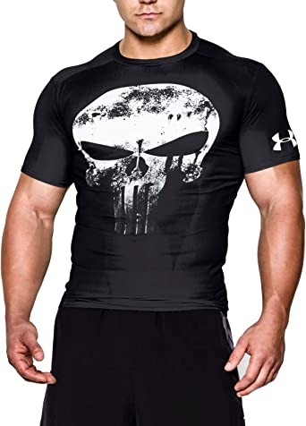 parilla origen tengo hambre  Amazon.com: Under Armour Alter Ego Compression Punisher Team T-Shirt - AW16  - Small - Black: Clothing