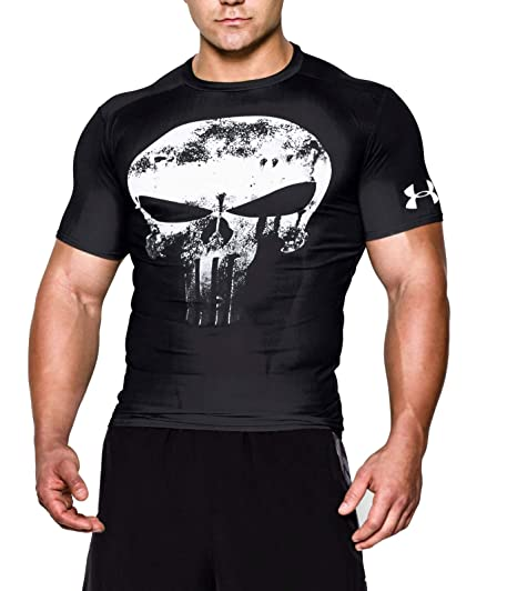 a14db9fd2 Under Armour Alter Ego Compression Punisher Team T-Shirt - AW16 - Small -  Black