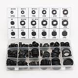 Mohoo 125 Stück 18 verschiedene Größen Gummitülle Sortiment O-Ring Unterlegscheiben