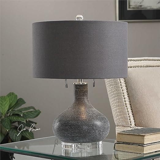 Amazon.com: Lámpara de vidrio Distressed Negro La colección ...