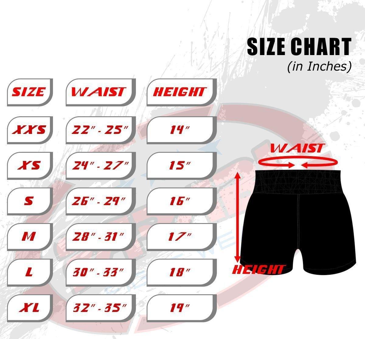 Shorts für Muay Thai / Kickboxen, mit Tigermuster Farabi Sports