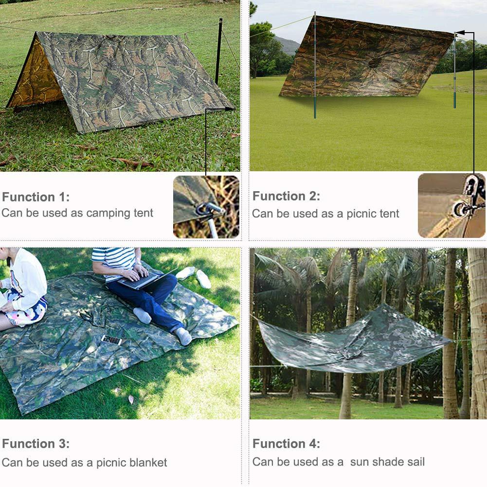 la P/êche la Randonn/ée Poncho Pluie Imperm/éable avec Capuche pour Le Camping