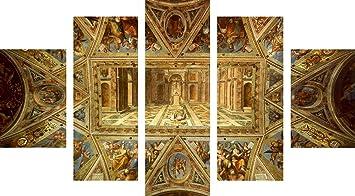 Plafond De La Chapelle Sixtine Impression Sur Toile En 5 Panneaux