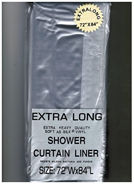 Superior EXTRA LONG 72u0026quot; X 84u0026quot; CLEAR SHOWER CURTAIN Liner Decor Vinyl  Carnation Home