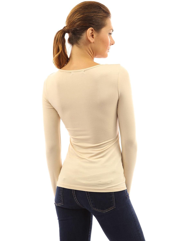 PattyBoutik Mujer cuello cuadrado de la manga larga blusa: Amazon.es: Ropa y accesorios