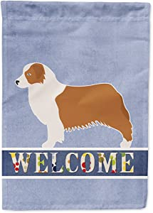 Caroline's Treasures BB5537GF Australian Shepherd Dog Welcome Flag Garden Size, Small, Multicolor