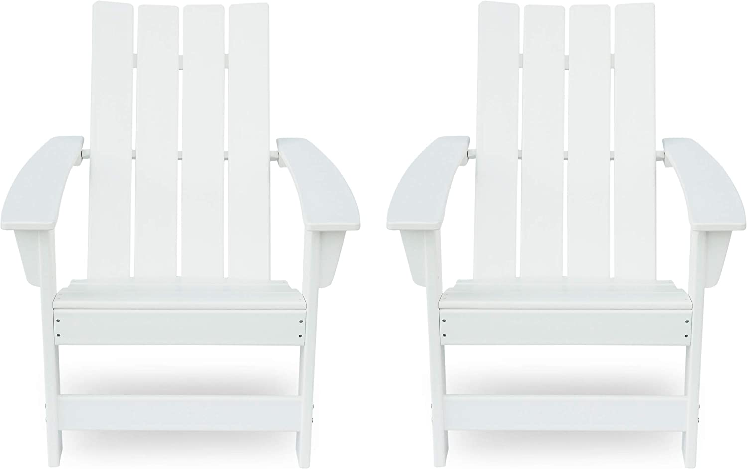 Christopher Knight Home 312640 Robert Outdoor Contemporary Adirondack Chair (Set of 2), White