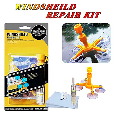 YOOHE Car Windshield Repair Kit - Windshield Chip Repair Kit with Windshield Repair Resin for Fix Auto Glass Windshield Crack Chip Scratch: Automotive