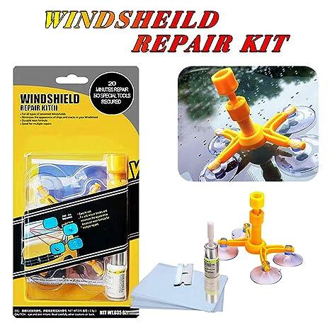 Yoohe Car Windshield Repair Kit Windshield Chip Repair Kit With Windshield Repair Resin For Fix Auto Glass Windshield Crack Chip Scratch