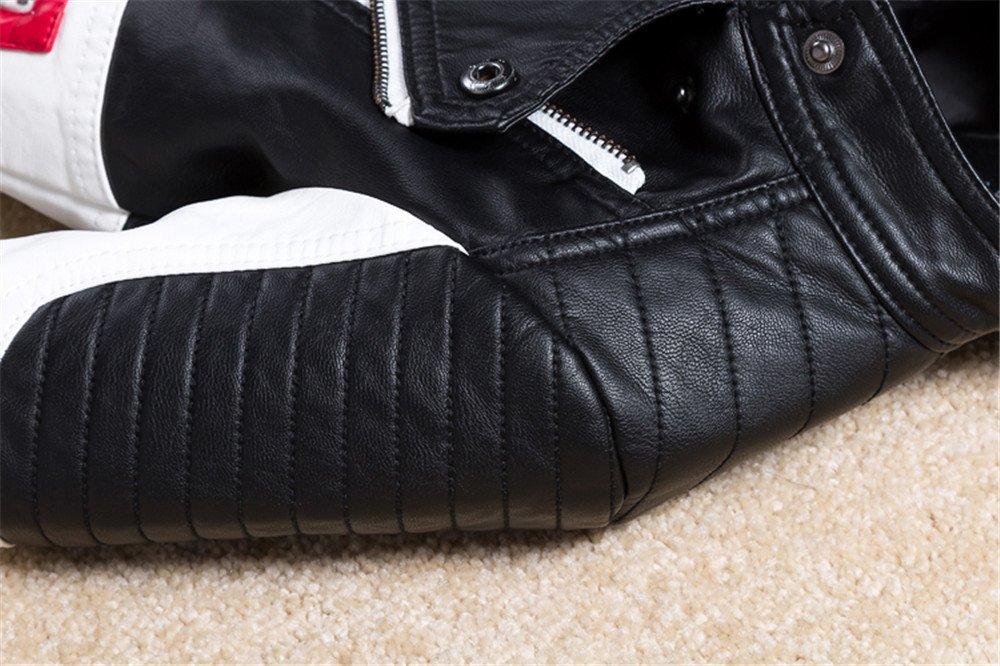 Budermmy Boys Leather Motorcycle Pilot Jackets Toddler Coats Black Size 11 by Budermmy (Image #5)