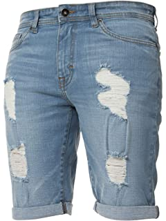 Mens Only /& Sons New Ripped Distressed Denim Shorts Regular Half Jeans Pants