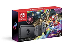 Nintendo Switch w/ Gray Joy-Con + Mario Kart 8 Deluxe (Full Game Download) - Switch