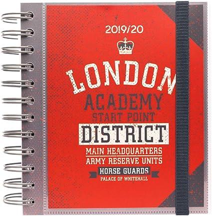 Agenda escolar 2019/2020 día página M London: Amazon.es: Oficina y ...