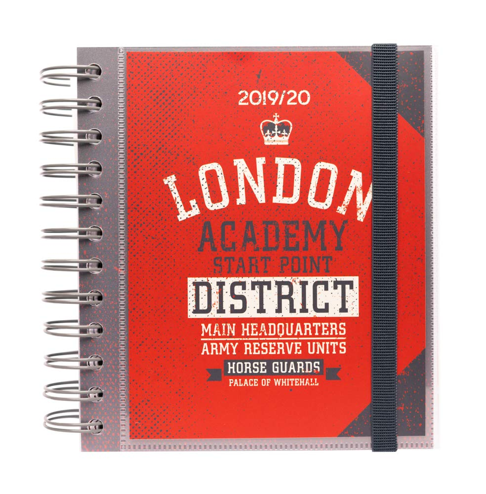 Erik Agenda ESCOLAR London Daily Planner, Dated Middle School or High School Student Planner for Academic Year 2019-2020, 10 Months (Sep 19 - June ...
