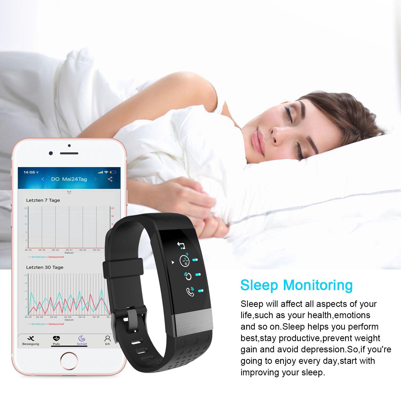 Reloj inteligente con monitor de ritmo cardíaco y pantalla de ...