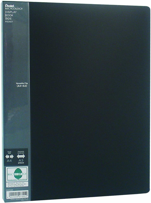 Pentel DCF646A Dossier de pr/ésentation A3//A4 60 pochettes Noir Import Allemagne