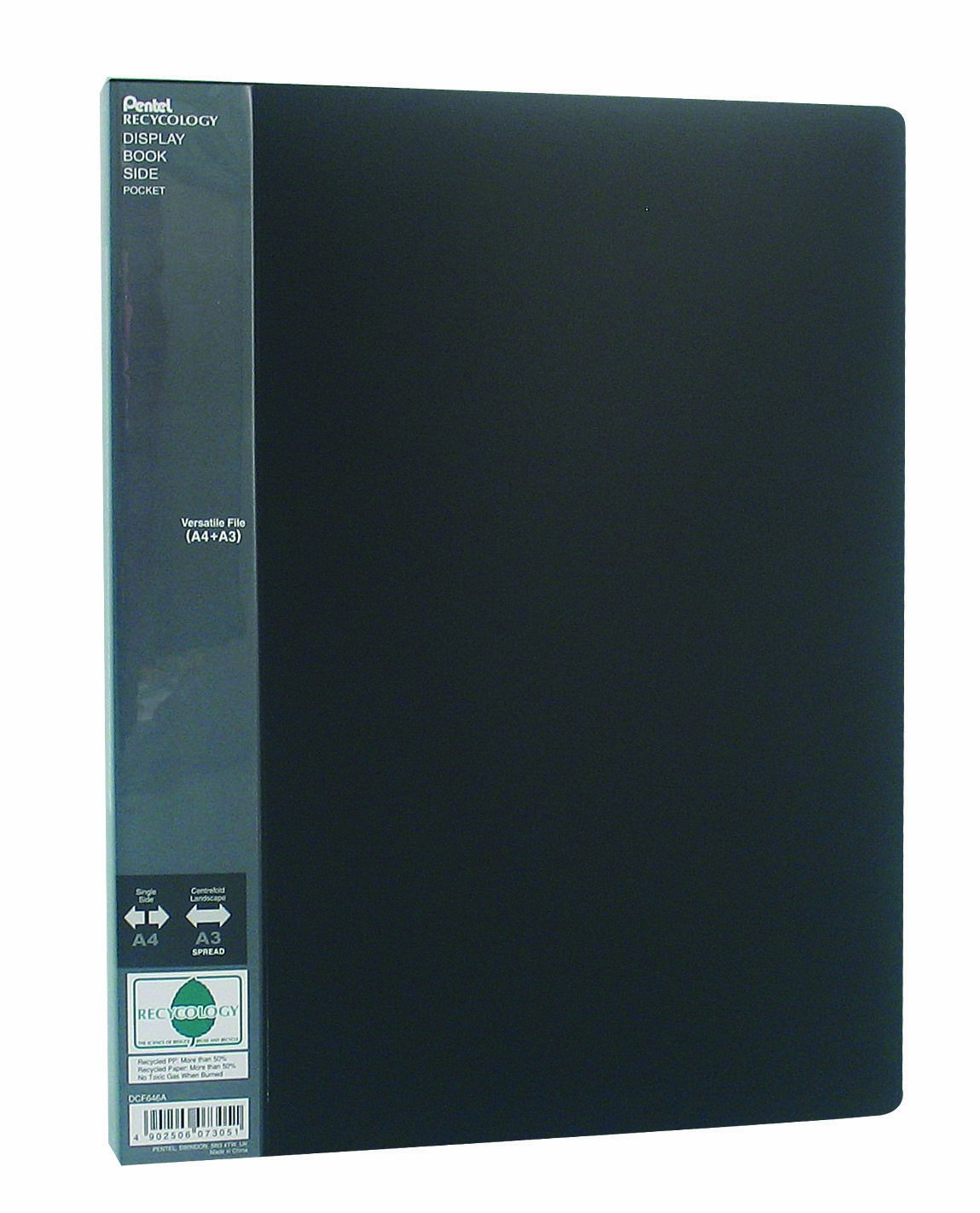Pentel DCF646A - Raccoglitore per presentazioni, formato A3/A4, 60 buste, nero