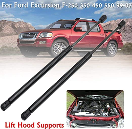 2x Front Hood Lift Support Shocks Strut Fit Ford Excursion F-250 F-350 F-450 550