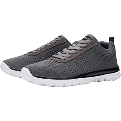 DYKHMATE Steel Toe Shoes for Men Lightweight Safety Sneakers Slip Resistant Work Shoes Comfortable Breathable Safety Toe Slip on Tennis Shoes