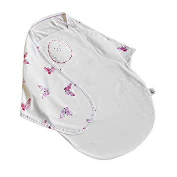 70/% Rayon from Bamboo Baby Sleeping Bag 0-6 Months, Blushing Butterflies Nested Bean Zen Sack Premier Adjustable Wearable Blanket