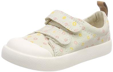 Clarks Unisex-Kinder Halcy Hati Sneaker, Beige (Cream), 22.5 EU