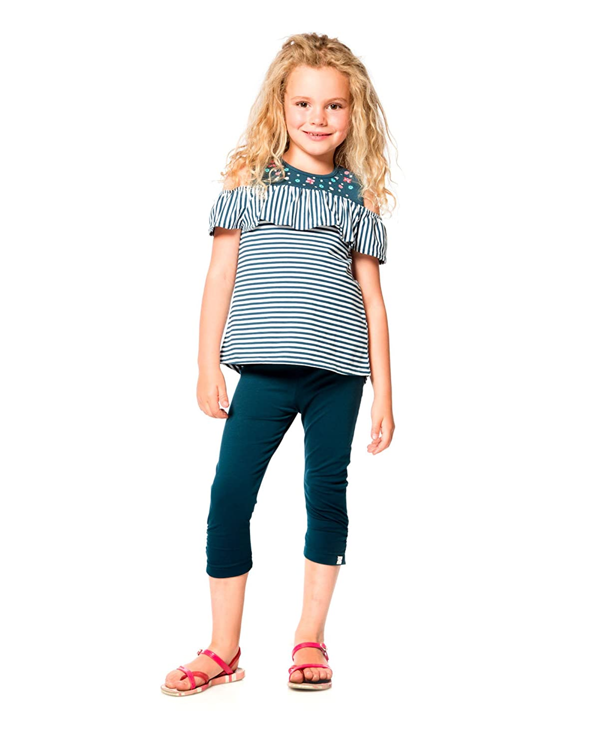 Deux par Deux Girls Blue Cropped Leggings High Style at Low Tide Sizes 5-12