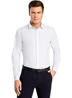 oodji Ultra Hombre Camisa Básica de Tejido Texturizado