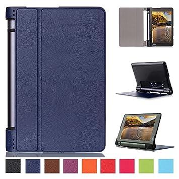 Kepuch Custer Case for Lenovo Yoga Tab 3 8.0 850F,Ultra-Thin PU-Leather Hard Shell Cover for Lenovo Yoga Tab 3 8.0 850F - Blue