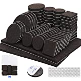 Furniture Pads 136 Pieces Pack Self Adhesive Felt Pad Brown Felt Furniture Pads 5mm Thick Anti Scratch Floor Protectors for C
