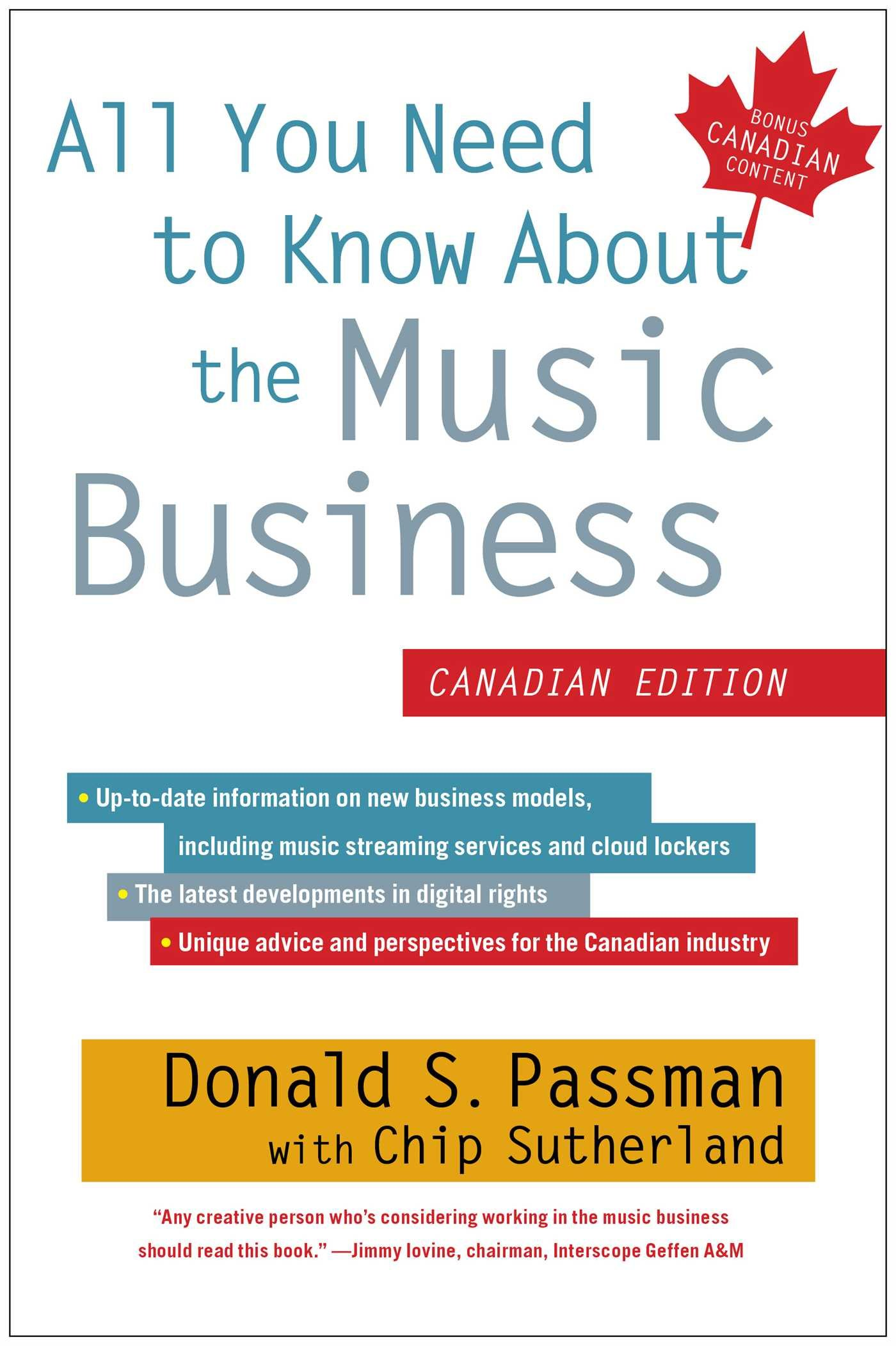 All You Need to Know About the Music Business: Canadian Edition pdf