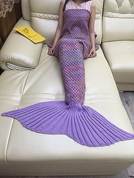 Sirena manta de mantas de lana para tejer color malla ...