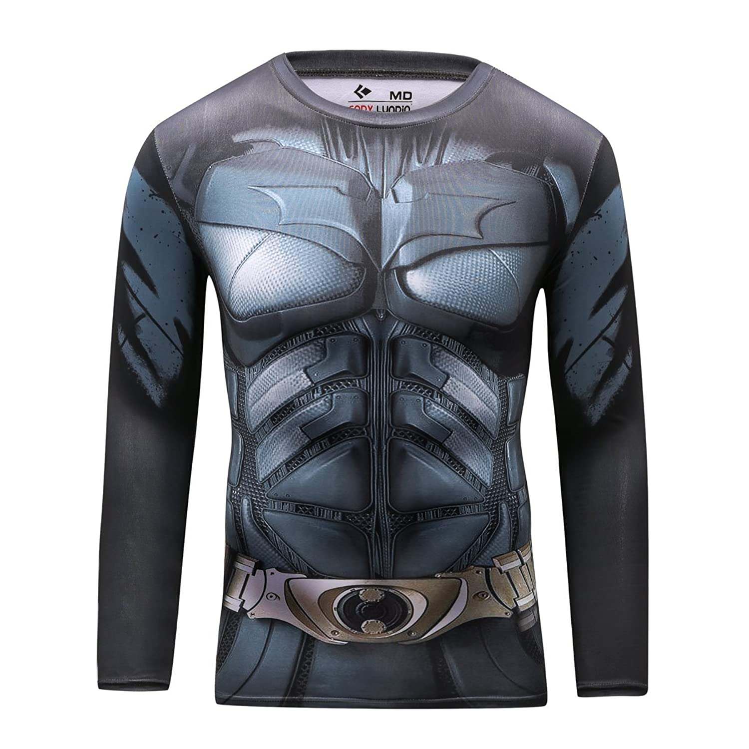 Image of Cody Lundin Men's Compression Rash Guard Bat Hero