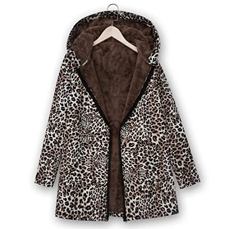 Amazon.com : IG Back Sale Womens Winter Warm Outwear Leopard ...