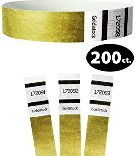 Yellow Tattoo TYVEK Wristbands 500 in a pack
