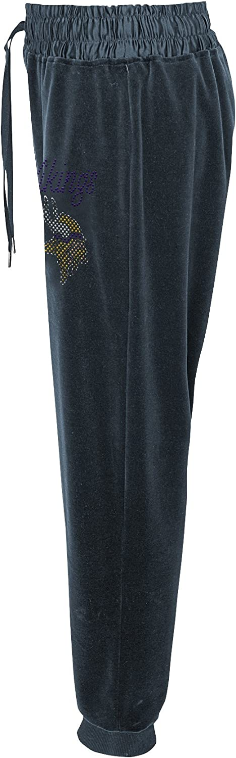 OuterStuff NFL Womens Glitzy Kicker Velour Banded Pant
