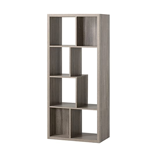 Homestar Furniture 7 Compartment Shelving Console In Reclaimed Wood