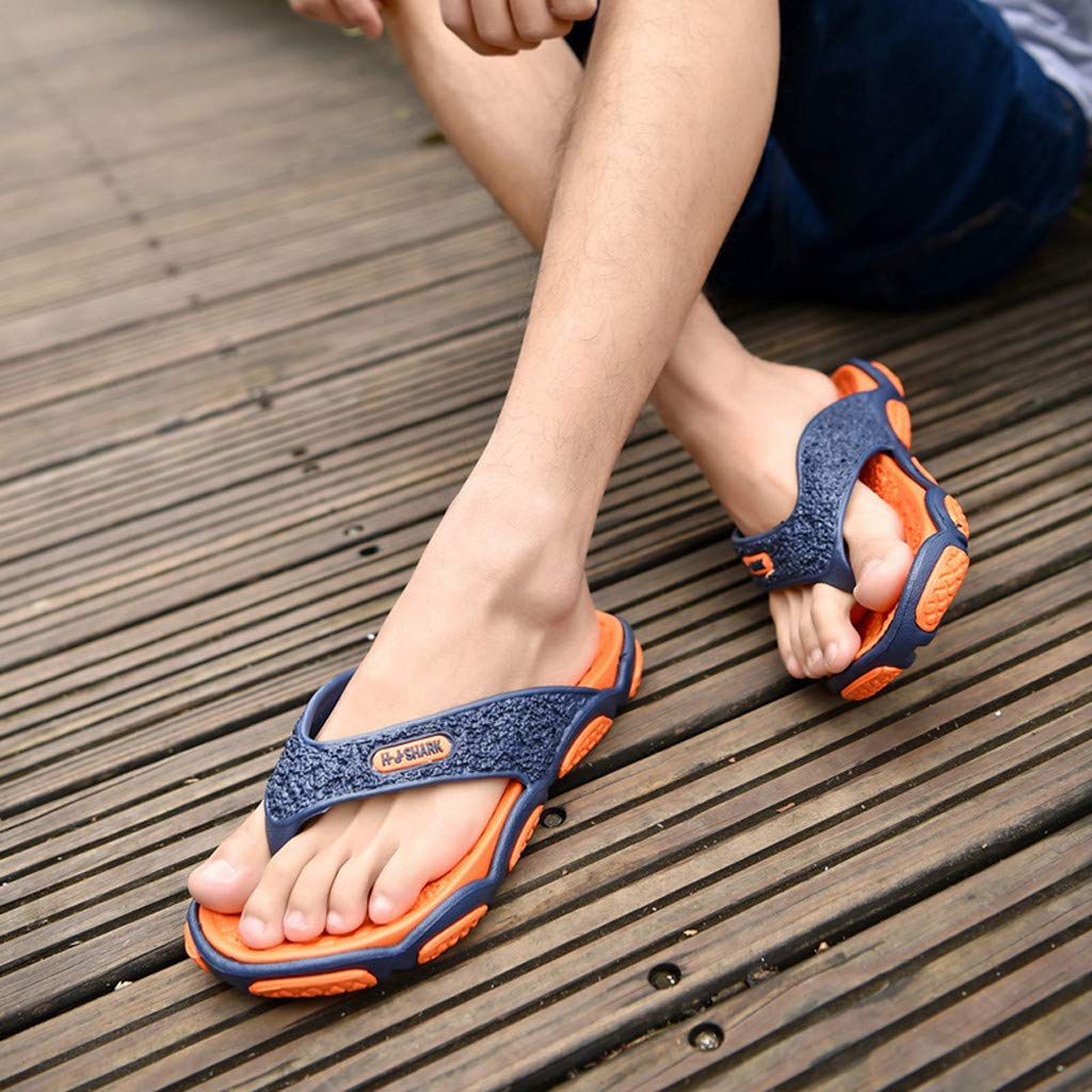Geetobby Men's and Women's Flip Flop Shower Rubber Sandals Flip Flops Shoes by Geetobby Men's Shoes (Image #4)