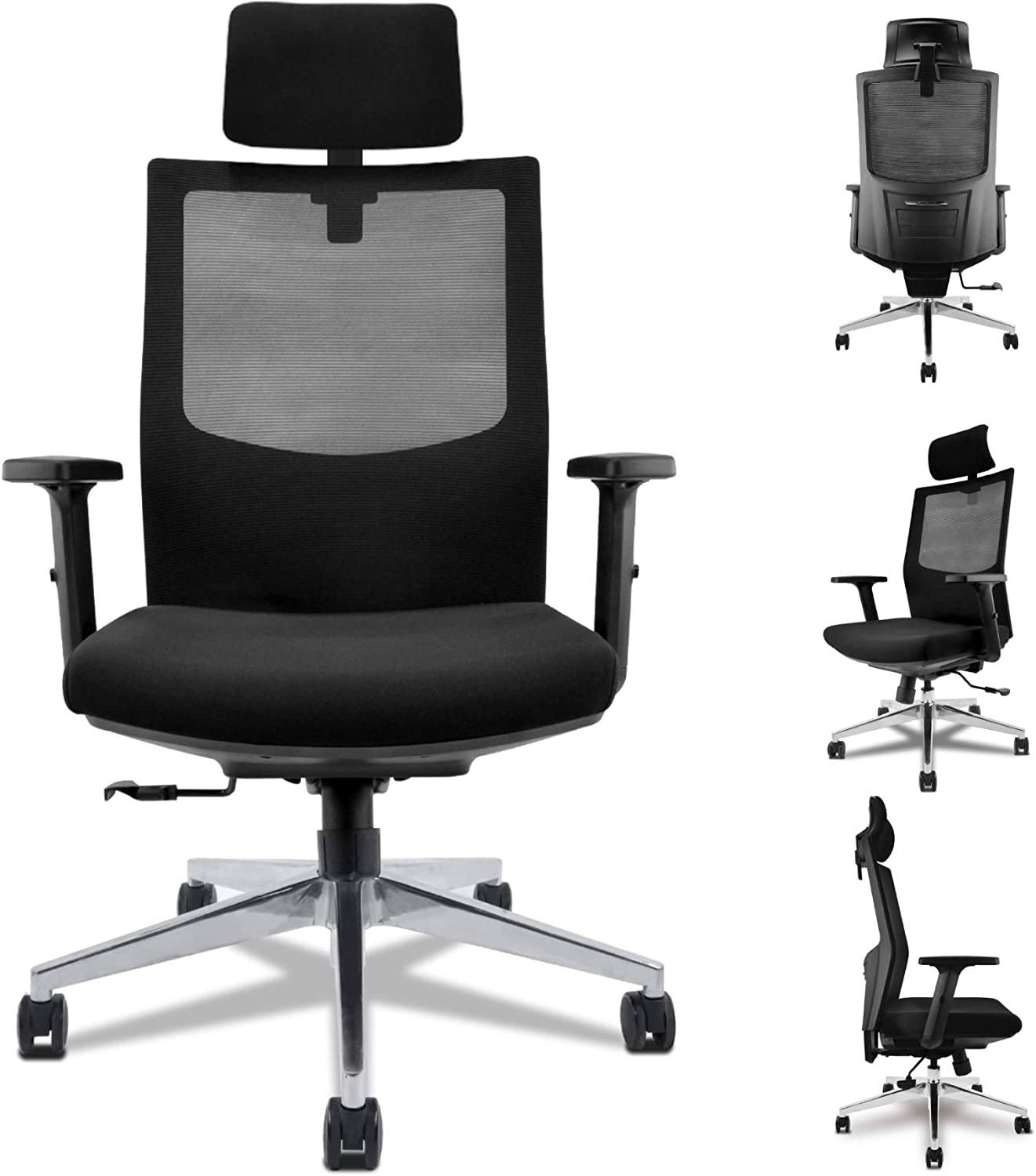 Diouseas Office Computer Desk Chair Ergonomic Mesh Chair with Adjustable Lumbar Support WAS £179 NOW £115.30 w/code LRC6Q4TP + £10 voucher on listing @ Amazon