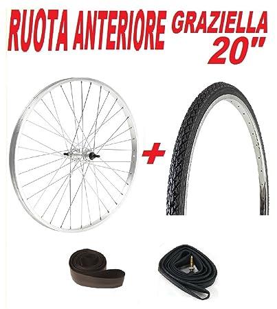 Ruota Anteriore Ideale Bicicletta Graziella 20 Copertone Camera